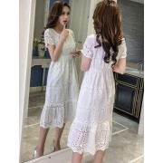 BDS1121002D Crochet white dress REAL PHOTO