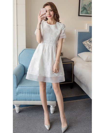 BDS1122001D White dress REAL PHOTO