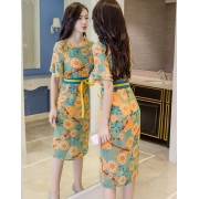 BDS1123002D Floral chiffon 2 piece dress REAL PHOTO