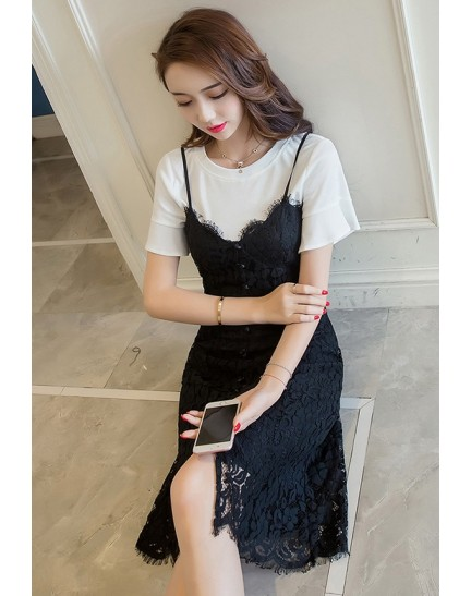 BDS1123003D Lace jumpsuit 2 piece dress REAL PHOTO