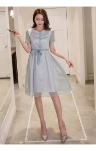 BDS1124007D Silk dress with bow REAL PHOTO
