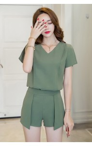 BDS1124006D V neck pants suit REAL PHOTO