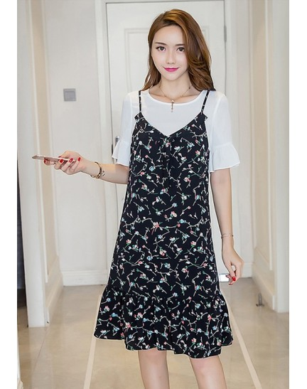 BDS1129002T 2-piece floral jumpsuit dress REAL PHOTO