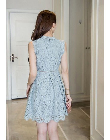 BDS1129003T Crochet lace dress REAL PHOTO