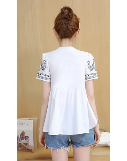 KTP11303107G Embroidery wawa top REAL PHOTO