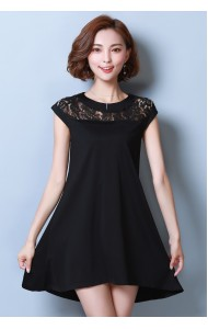 KDS1202372K Lace shoulder A line dress REAL PHOTO
