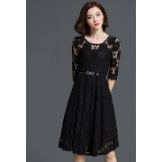 KDS12028278G Full lace skater dress REAL PHOTO