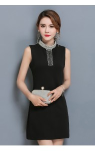 KDS12070188G Dress with crystal collar REAL PHOTO