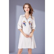 BDS12082826D Overlapping embroidery dress REAL PHOTO