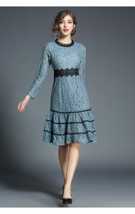 BDS12082175X Full lace tiered dress REAL PHOTO