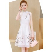 KDS12083119Y Organza embroidery cheongsum dress REAL PHOTO