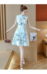 KDS12086323Y Organza embroidery cheongsum dress REAL PHOTO