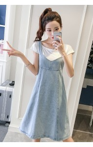 KDS12091588J Soft denim jumpsuit dress REAL PHOTO