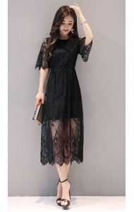 KDS1210909Y Full lace maxi dress REAL PHOTO