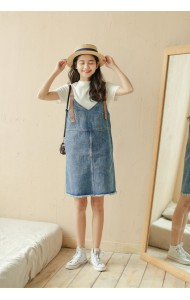 KDS1211621A Denim jumpsuit dress REAL PHOTO