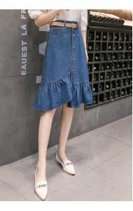 KSK12138162H Mermaid denim skirt REAL PHOTO