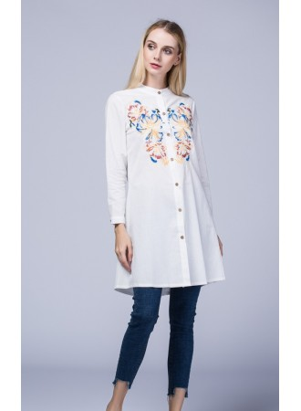 KTP1214086M Embroidery blouse REAL PHOTO