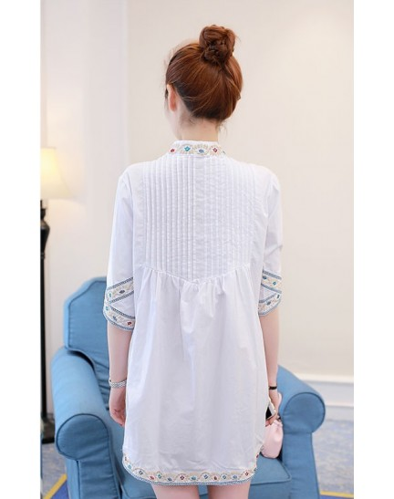 KTP1214816M Embroidery blouse REAL PHOTO