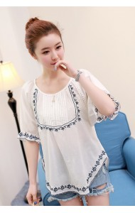 KTP1214326M Embroidery blouse REAL PHOTO