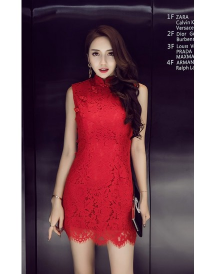 KDS12156218Q Lace cheongsum dress REAL PHOTO