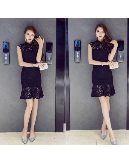 KDS12153265X Lace mermaid cheongsum dress REAL PHOTO