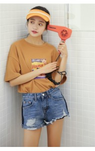KPT12155081R RIP short jeans REAL PHOTO