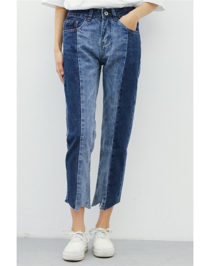KPT12153761R Irregular jeans REAL PHOTO