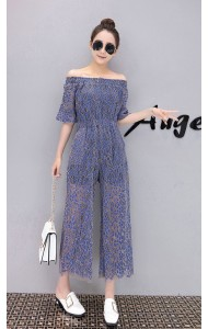 KJP1222586D Off shoulder full lace jumpsuit REAL PHOTO