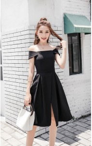 KDS0108698J Off shoulder split princess dress REAL PHOTO