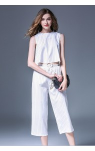 BTS01167906Y 2018 Stripes pants 2 piece suit REAL PHOTO