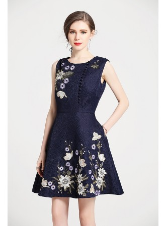 BD01164236D Jacquard embroidery dress REAL PHOTO