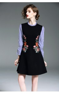 BD01170330D Jacquard embroidery dress REAL PHOTO