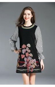 BD01177236D Embroidery puff sleeves dress REAL PHOTO