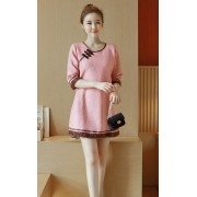 KDS01187598Y Full lace cheongsum dress REAL PHOTO