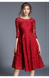 BDS03079708Y Plus size lace dress REAL PHOTO
