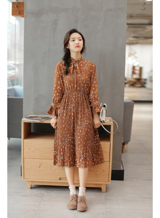 KDS03098621N Pleated floral dress REAL PHOTO