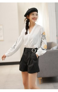KTP03095721N Embroidery sleeves chiffon blouse REAL PHOTO