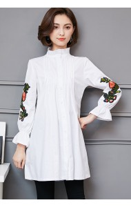 KTP03227069O Plus size embroidery blouse REAL PHOTO
