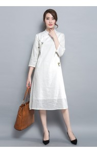 KDS03228133Y Plus size embroidery cheongsum dress REAL PHOTO
