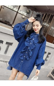 KDS03242919W Fungus denim dress REAL PHOTO