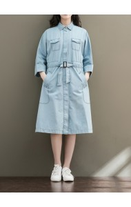 KDS03250281M Plus denim dress REAL PHOTO