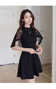 KDS03277272H Cape dress with lace REAL PHOTO