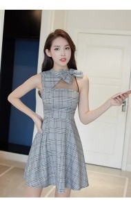 KDS03271172H Ribbon plaid dress REAL PHOTO