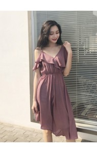 KDS03282098M Off shoulder irregular dress REAL PHOTO