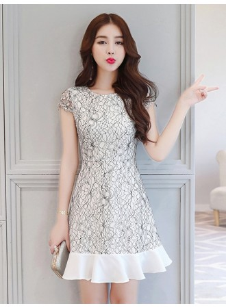 KDS04068952H Full lace trumpet dress REAL PHOTO