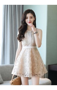 KDS04081658Y Embroidery lace princess dress REAL PHOTO