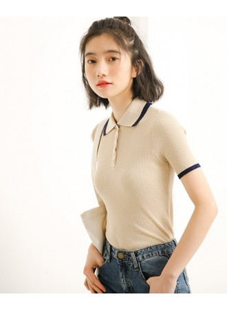KTP0408001S Knit polo shirt REAL PHOTO