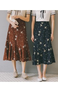 KSK04099701S Trumpet floral skirt REAL PHOTO