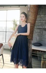 KDS04092209X Full lace V neck dress REAL PHOTO