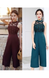 KJP04101309X Halter crochet jumpsuit REAL PHOTO